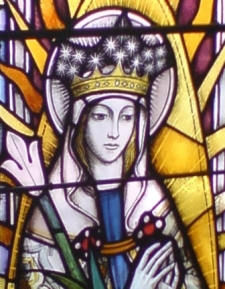 Our Lady - detail from the East Window