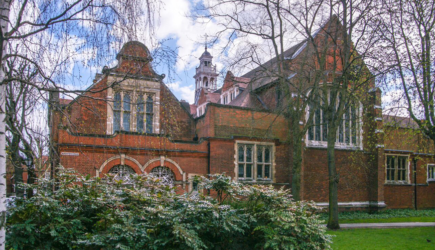 Exterior of church and hall from NW_873px x 502x