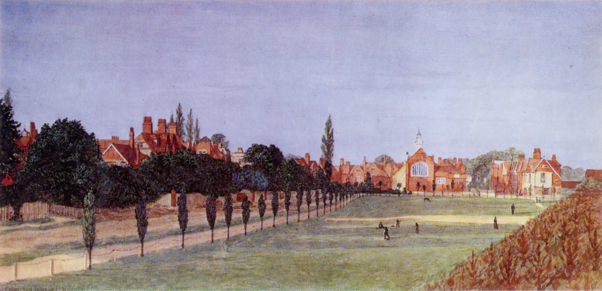 Bedford Park 1881 - #1405AB Bed Soc painting
