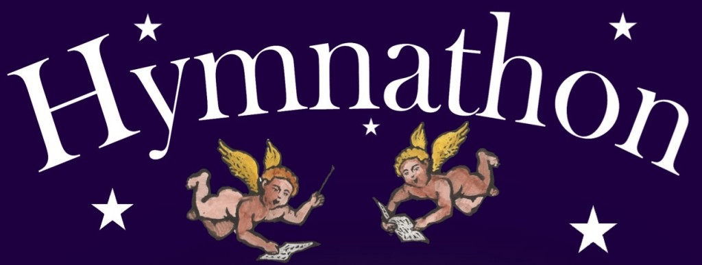 Hymnathon 2017 logo - two angels