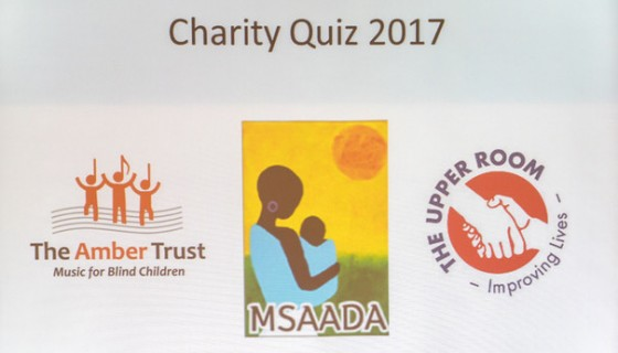 Charity Quiz Supper sign