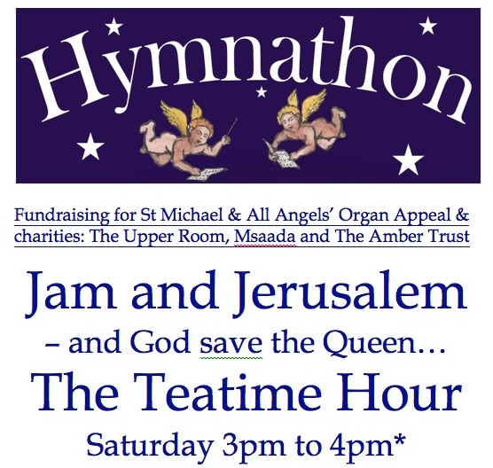 Poster saying 'Jam and Jerusalem - The Teatime Hour'