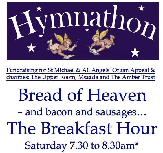 Hymnathon 2017 – Hour by Hour, hymn first lines – St Michael